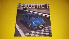 LEXUS RC F carbone Coupe 5.0 V8 Voiture de sport Brochure catalogue de vente 2014 Comme neuf RCF