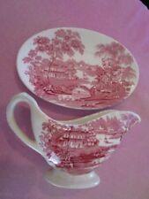 Antique Original Saucer Pink Pottery & Porcelain
