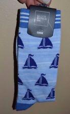 Mens Crew Socks Ellum Supply Co Sailboat Sock Size 10-13 by Bioworld