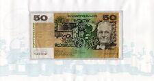 1973 AUSTRALIAN $50 PHILLIPS/WHEELER 1st PREFIX FOLDER LOW NUMBER YAA 000548