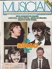 FEB 1982 MUSICIAN vintage music - rock and roll magazine - RINGO - BEATLES