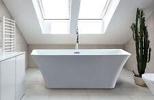 "Freestanding Soaking Acrylic Bathtub Rectangle bath Tub Adele White 67"""