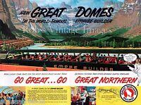 Great Northern Railroad Empire Builder Domes Poster Scenic travel 1955 Train sm