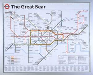 Simon Patterson: The Great Bear Art Poster London Underground Tate Gallery OOP