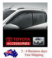 GENUINE  TINTED SLIMLINE WEATHERSHIELDS FOR TOYOTA NEW HILUX DUAL CAB SEP 2015