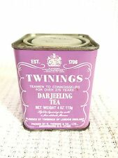 Vintage Twinings Darjeeling Tea Tin-4 Oz-Advertising 113g