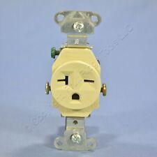 P&S Ivory COMMERCIAL Single Outlet Receptacle NEMA 6-20R 20A 250V Bulk 5851-I