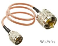 UHF Male to Mini-UHF Male 50-Ohm RG316 Coax Low Loss Jumper RF Cable