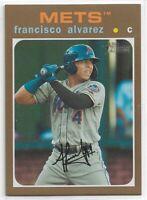 Francisco Alvarez 2020 Topps Heritage GOLD RC /15 NY Mets SP Case Hit!