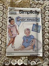 Vintage Simplicity Daisy Kingdom 8513 Babies Romper Size NB-18 Months Uncut