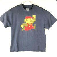Nintendo Mens XL Super Mario 8 bit Tshirt Basic NES SNES Video Game Classic