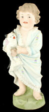 Antique Victorian Heubach Happy Boy W Kitty Cat Doll Bisque Figurine Germany