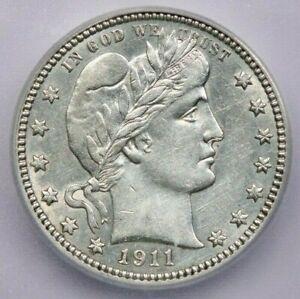 1911-P 1911 Barber Quarter ICG AU58 Details