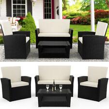 Poly Rattan Lounge Sitzgruppe Garten Sitzgarnitur Gartenmöbel Balkon Set Schwarz