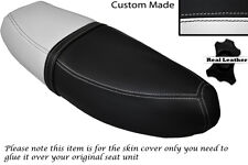 BLACK & WHITE CUSTOM FITS HONDA C90 CUB SQUARE LIGHT MODEL DUAL SEAT COVER