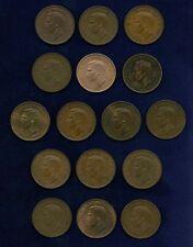 G.B./U.K./ENGLAND GEORGE VI HALF-PENNY COINS: 1937,1938