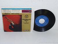 """TRUMPET BOY Et Sa Trompette-Succès: Rock Bolero 7"""" 45 Philips 424.154 France"""