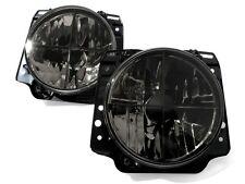 VW Rabbit Golf MK1 1 Beetle Clear Black Euro E-Code Headlight Headlamp Crosshair