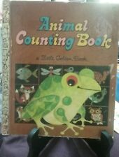 ANIMAL COUNTING BOOK Little Golden Book 1969 H/C  *VGC
