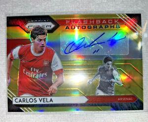 Carlos Vela - 20-21 Prizm EPL - Flashback Autographs - Gold #/10 - Arsenal