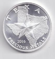 2016 Silver Texas Round. 1-Troy oz. .9999 Silver