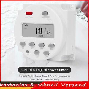 12V Digital Timer 7 Tage Programmierbare Zeitschaltuhr Controller Relais DE