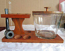 Humidor pipe holder stand jar with lid and 1 pipe tobacciana