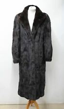 JOS ROBITAILLE Ladies Vintage Brown Real Fur Long Sleeve Coat Approx. M