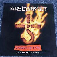 LP VINYL BLUE OYSTER CULT CAREER OF EVIL THE METAL YEARS 1990 UK 1ST PRESS EX/EX