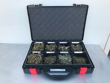 WURTH x2000 WOOD SCREW SET HANDY SECURE CONSTRUCTION ASSORTMENT CASE BOX