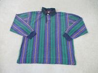 VINTAGE Tommy Hilfiger Polo Shirt Adult Extra Large Green Purple Crest Men 90s *