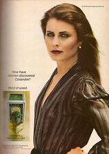 1980 Coriandre Jean Couturier Perfume Print Advertisement Ad Vintage VTG 80s