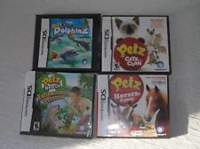 Gently Used Lot of 3 Nintendo DS PETZ Rescue HORSEZ Family DOLPHINZ Video Game