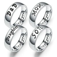 Family Mom Ring Titanium Steel Mother Daughter Son Love Thumb FingerJewelry Gift