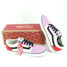 VANS Ward Womens Skate Shoes Size 8 Orchid Red Pink New Lace Up Low Top