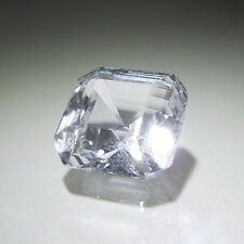 Asscher Square 6 x 6 mm 1.20 ct Natural White Sapphire Brilliant Solitaire Cut