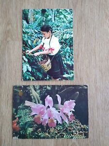 Rare vintage postcards from Colombia