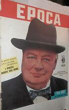 EPOCA 10 Novembre 1951 Wiston Churchill Humez Scotland Yard fellahs Virando di e