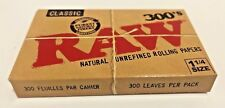 """Raw 300's Classic Authentic UnRefined Rolling Papers 1.25""""  **Free Shipping**"""