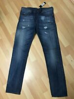 NWT MADE ITALY Men Diesel BUSTER RIP CHINO STYLE Denim 0858N BLUE SLIM W32 L34H6