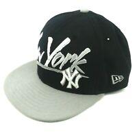 New Era 9Fifty New York Yankees Baseball Cap One Size Hat Blue Gray Snap Back
