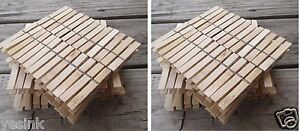 200 WOODEN 3 Inch SPRING CLOTHESPINS Wood Laundry Clothes pins