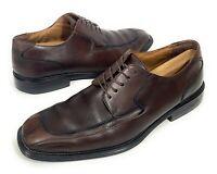 G.H. Bass Mens Jacquard Split Toe Derby Leather Dress Shoes Lace Up Size 11 US