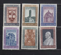 Vatican City #Mi382-Mi387 MNH CV€1.50 1961 John XXIII [317-322]
