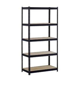 "5 Shelf Heavy Duty Metal Muscle Rack Garage Shelving Storage 48""W x 24""D x 72""H"