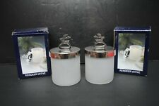 Reindeer Bathroom Vanity Storage Organizer Glass Canister Jar Holder Q Tip Cotto