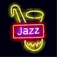 "New Jazz Music Sax Open Lamp Beer Light Neon Sign 17""x14"""
