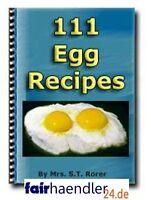 111 EIERREZEPTE auf englisch EIER Rezepte EGG RECIPES english eBook WOW E-LIZENZ