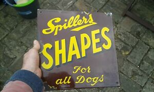 A Lovely Original Small Spillers SHAPES Enamel Sign (12in x 12in).