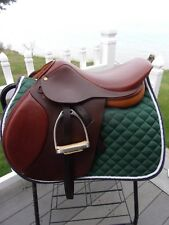 "16.5"" HDR ADVANTAGE English Saddle  WITH LEATHERS & IRONS 2.5 FIT"